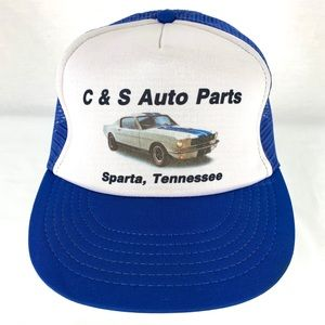 Trucker Hat Cap C & S Auto Parts SnapBack Retro
